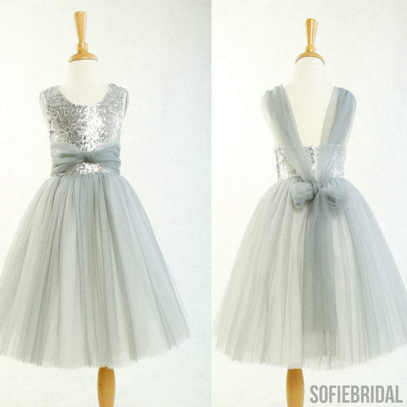 Round neck silver sequin tulle pretty little girl dresses for round neck silver sequin tulle pretty little girl dresses for wedding party flower girl dresses mightylinksfo