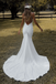 Mermaid Spagehtti Straps V-neck Backless Sexy Wedding Dresses, WD0491