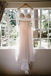 A-line V-neck Long Sleeves Illusion Lace Wedding Dresses, WD0506