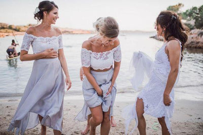 Beach Bridesmaid Dresses with Sleeves