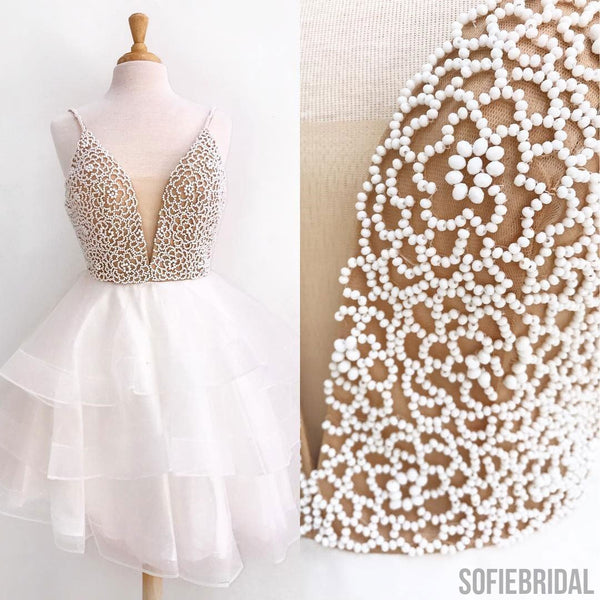 Lovely Beaded Tulle Homecoming Dresses, Cheap Homecoming Dresses, Homecoming Dresses, SF0113