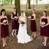 Mismatched Short Chiffon Bridesmaid Dresses, Lovely Fall Bridesmaid Dresses, Wedding Party Dresses, PD0358