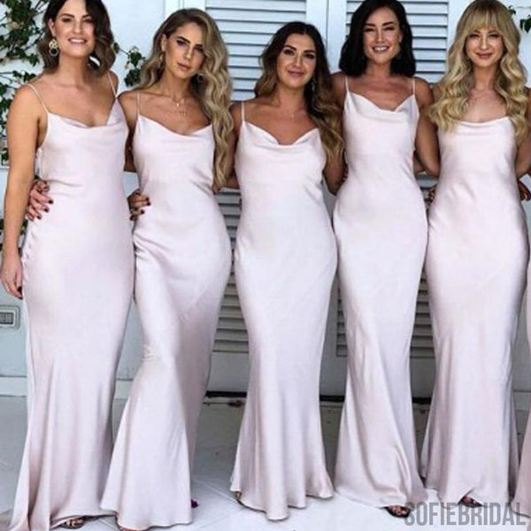 Spaghetti Sheath Bridesmaid Dresses, Elastic Satin Bridesmaid Dresses, Cheap Bridesmaid Dresses, PD0702