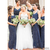 Navy Bridesmaid Dresses, Special Wedding Party Dresses, Cheap Bridesmaid Dresses, PD0424