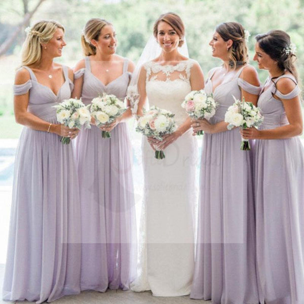 Lilac Chiffon Bridesmaid Dresses, A-line Bridesmaid Dresses, Cheap Bridesmaid Dresses, WG06