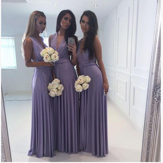 Convertible Jersey Bridesmaid Dresses, Popular Bridesmaid Dresses, Long Bridesmaid Dresses, PD0592
