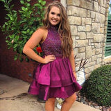 Open Back Rhinestone Homecoming Dresses, Lovely Homecoming Dresses, Cheap Homecoming Dresses, SF0102