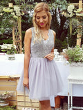 Lace Tulle Homecoming Dresses, Simple Homecoming Dresses, Popular Homecoming Dresses, CM501