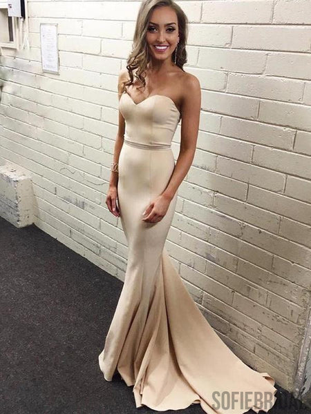 Sweetheart Simple Prom Dresses, Mermaid Prom Dresses, Long Bridesmaid Dresses, PD0724
