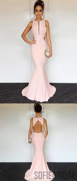 Blush Pink Prom Dresses, Mermaid Prom Dresses, Long Prom Dresses, Cheap Prom Dresses, PD0686