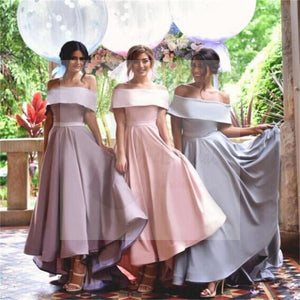 Off Shoulder Prom Dresses, Simple Bridesmaid Dresses, New Arrival Custom Bridesmaid Dresses, Wedding Party Dresses, Long Bridal Gowns, PD0009