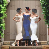Off Shoulder Prom Dresses, Sweetheart Mermaid Prom Dresses, Custom Bridesmaid Dresses, Wedding Party Dresses, Long Bridal Gowns, PD0007