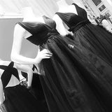 Convertible Black Prom Dresses, Simple Prom Dresses, Cheap Prom Dresses, PD0623