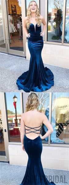 Sweetheart Velvet Prom Dresses, Mermaid Prom Dresses, Cheap Prom Dresses, Prom Dresses, PD0620