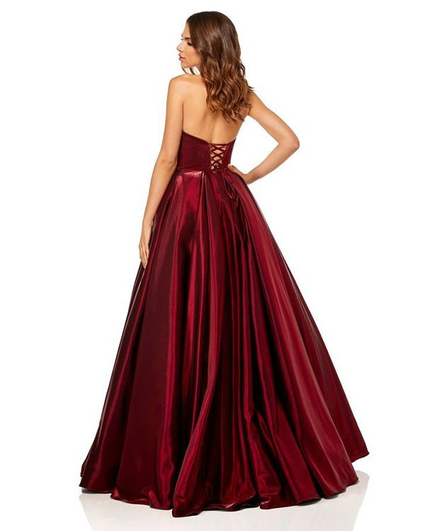 Sweetheart Burgundy Ball Gown, Lace up back Prom Dresses, PD0041