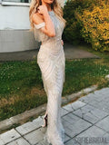 Gorgeous Long Sheath Beaded Prom Dresses With Tassels, Prom Dresses, PD0787