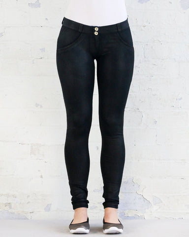 WR.UP® BLACK COATED DENIM - REGULAR WAIST / FULL LENGTH