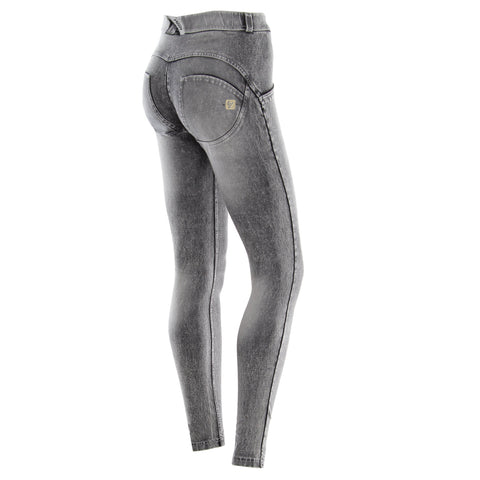 WR.UP® MONOCHROME GREY DENIM - MID WAIST / FULL LENGTH