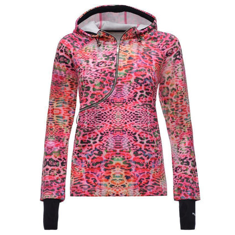 D.I.W.O.® CURVE BREATHABLE HOODIE - LEOPARD PRINTS