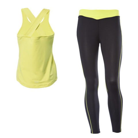 WR.UP® Sport Low Waist 7/8 Length Yellow Top + Black