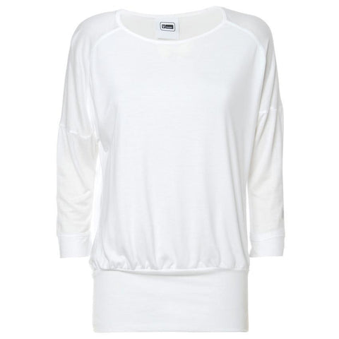 FREDDY Jersey Top 3/4 Sleeves White