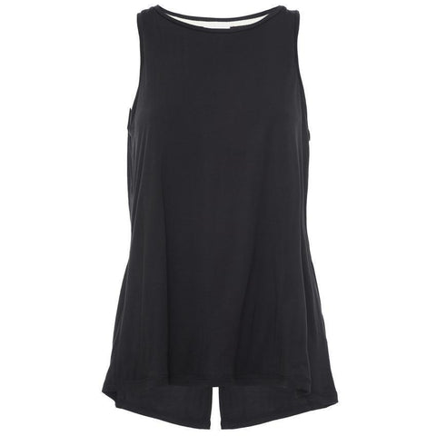 FREDDY Jersey Top Open Back Black