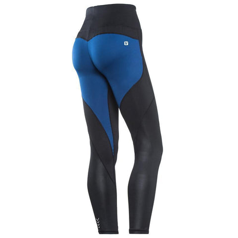 D.I.W.O.® SPORT - HIGH WAIST / 7/8 LENGTH - BLACK + BLUE