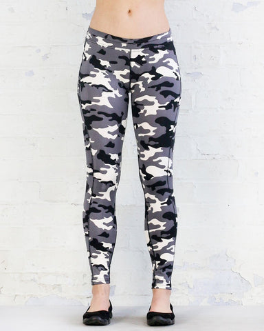 WR.UP® Sport Low Waist 7/8 Length Grey Camo