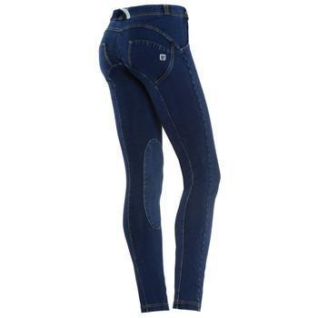 WR.UP® Low Waist Full Length Denim Jodhpur Blue