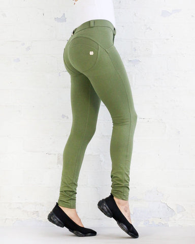WR.UP® Mid Waist Full Length Fashion Olive Green
