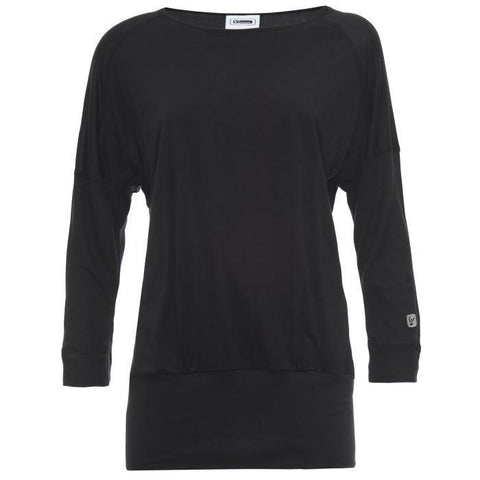 FREDDY Jersey Top 3/4 Sleeves Black