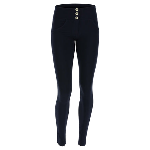 WR.UP® High Waist 3 Button Fashion Navy Blue