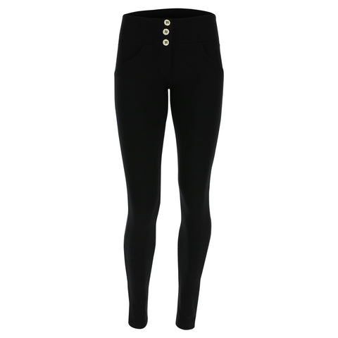 WR.UP® High Waist 3 Button Fashion Black