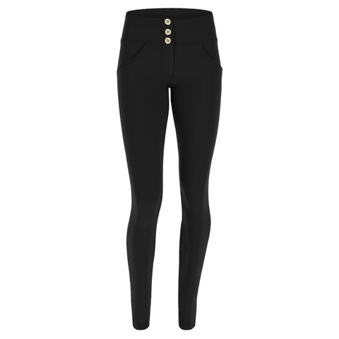 WR.UP® Diwo Pro High Waist 3 Button Fashion Black