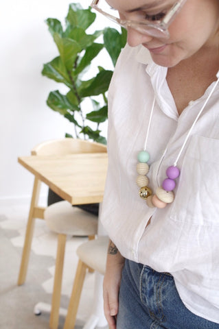 indera.beads photoshoot. nursing necklace