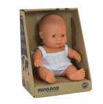 Miniland Doll - Anatomically Correct Baby, Caucasian Girl, 21 cm