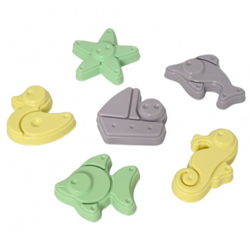 Plasto I AM GREEN Sand Moulds, 6 pieces