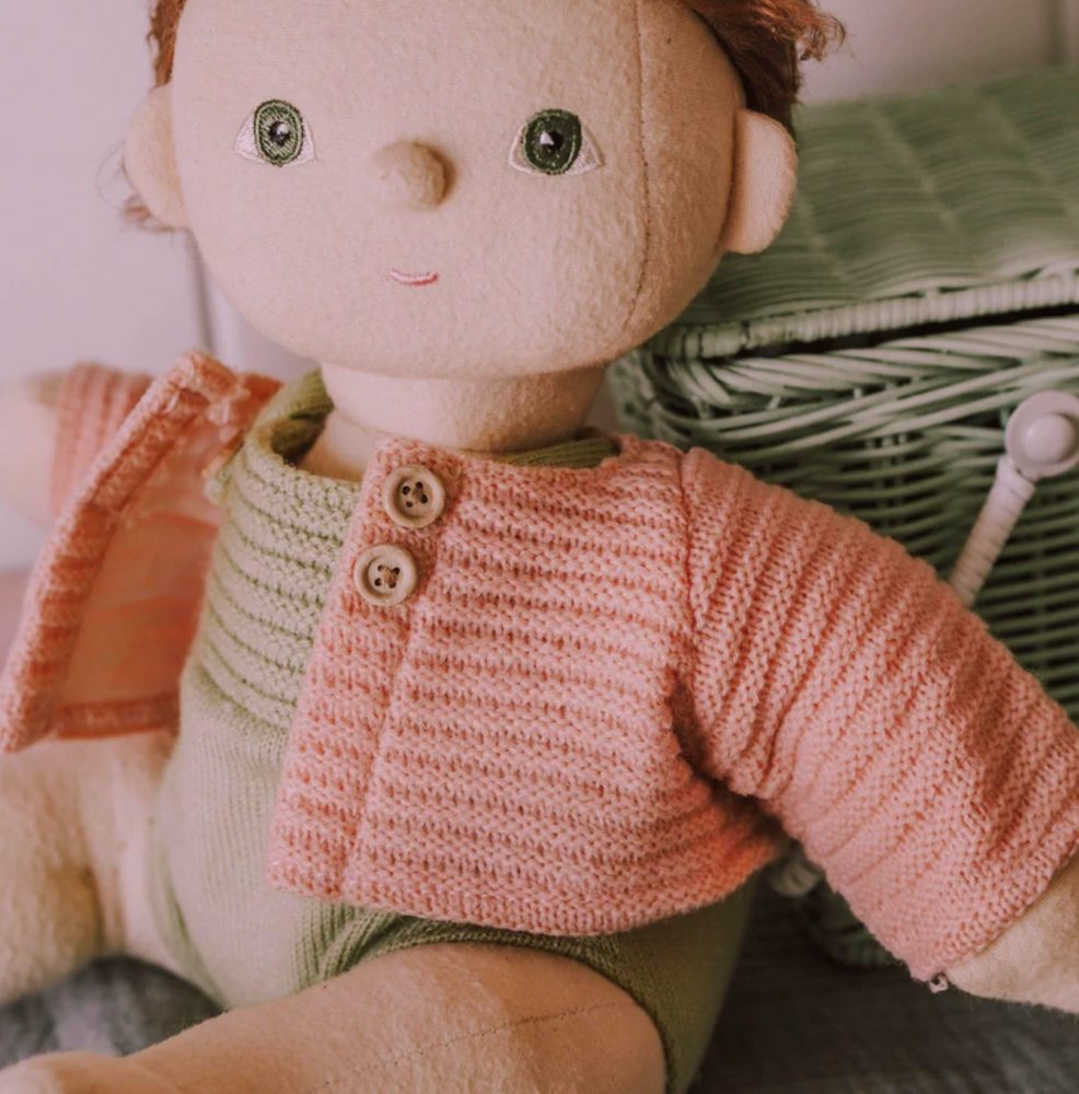 Dinkum Doll Cardigan- Rose