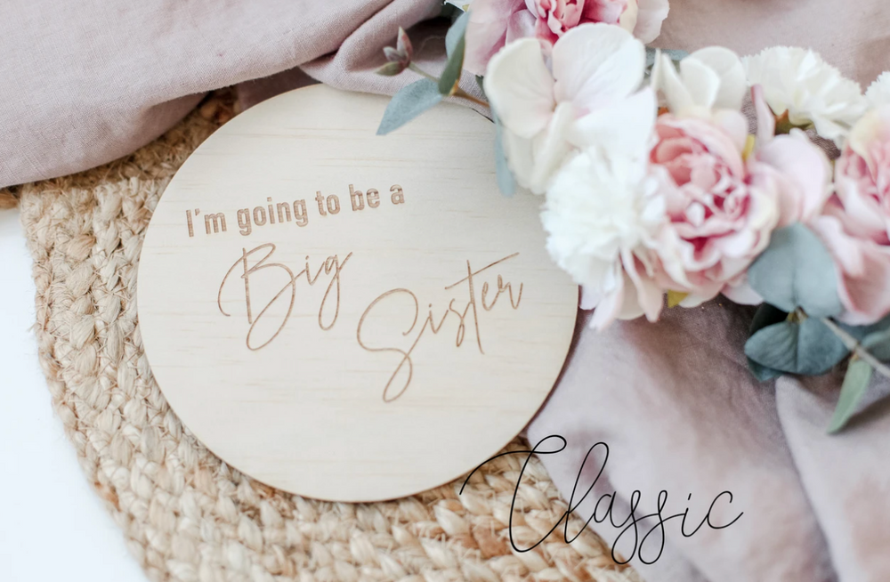 SINGLE ANNOUNCEMENT DISC - IM GOING TO BE A BIG SISTER