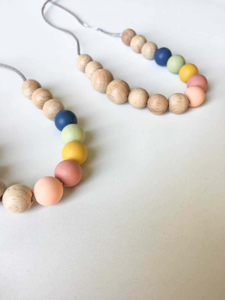 Rainbow collection nursing necklace