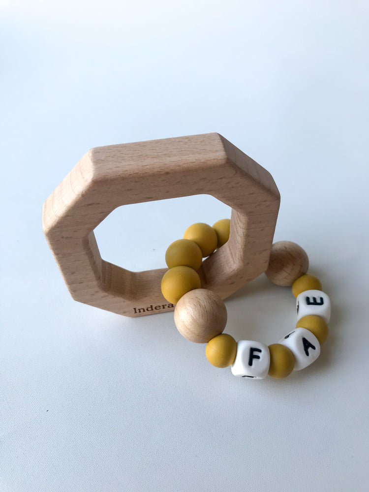 Personalised Silicone OCTAGON Teether