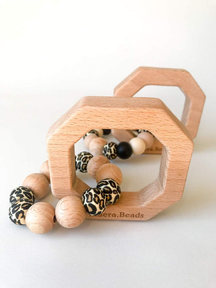 Leopard collection Teether