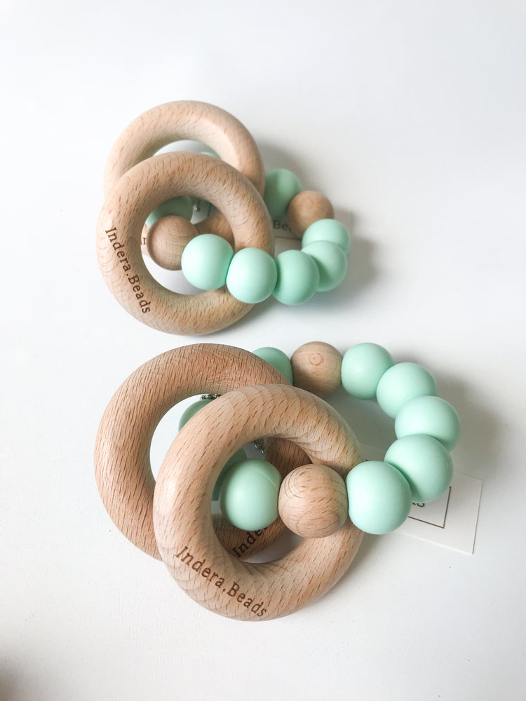 Rattle Silicone Teether