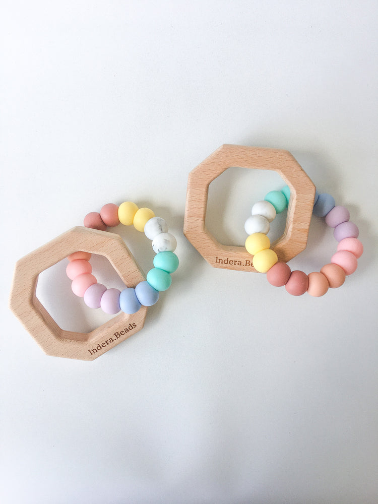 Rainbow Collection OCTAGON Silicone Teether
