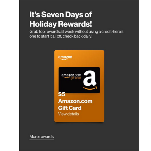 FREE $5 Amazon Gift Card For Verizon Customers With The