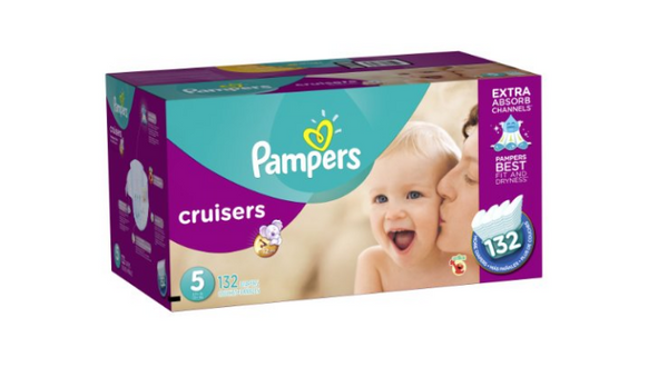 Pampers Diapers Economy Plus Pack, Size 5, 132 Count