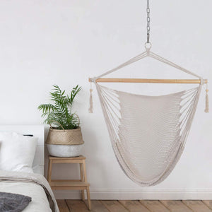 Patio Watcher Hammock Chair Hanging Rope Swing Seat
