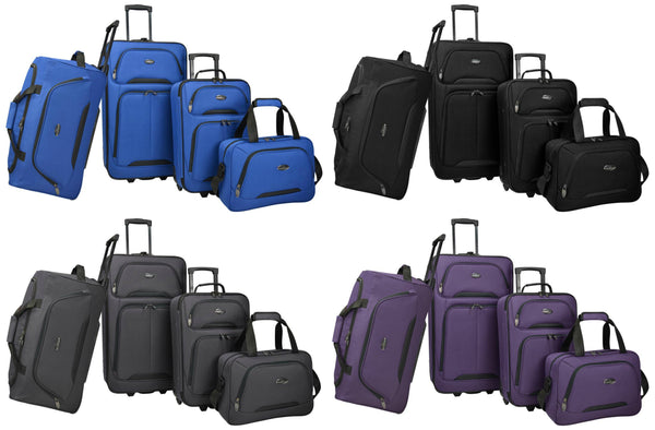 4 piece US Traveler luggage set