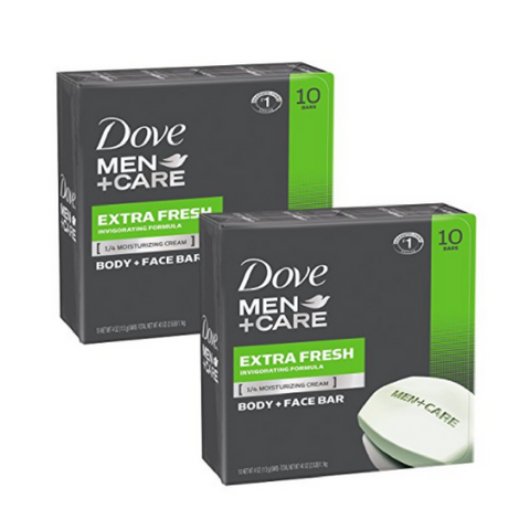 20 bars of Dove Men+Care Body and Face Bar, Extra Fresh