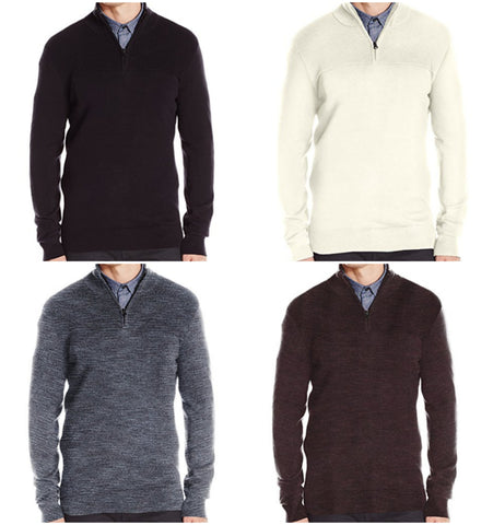 Kenneth Cole Quarter Zip Sweaters